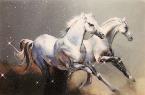 Arabian Horses Artwork resin print