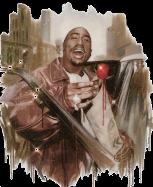 Rose that grew from concrete tupac artwork resin print