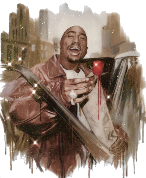 Rose that grew from concrete tupac artwork resin print